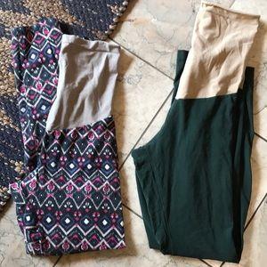 Pack of maternity leggings